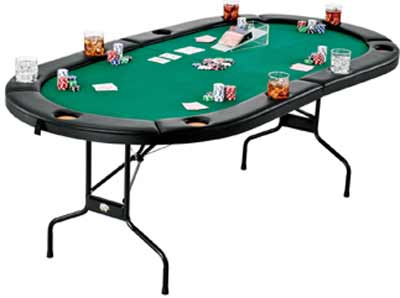 Fat Cat Texas Hold' Em Poker Table