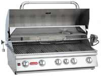Bull 5-Burner 38'' Stainless Steel Built-In Gas Barbecue Grill