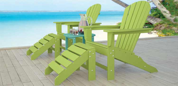 Polywood Adirondack Chairs at Pelican Patio Shops