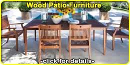 Wood Patio Outdoor Furniture