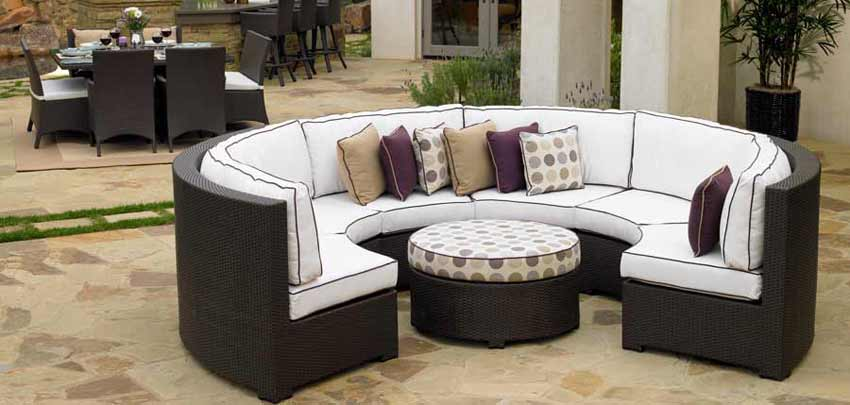 Wood & Wicker Patio Furniture