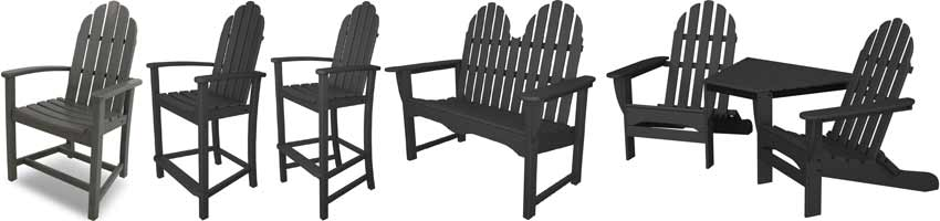 Polywood Adirondack Patio Furniture Set