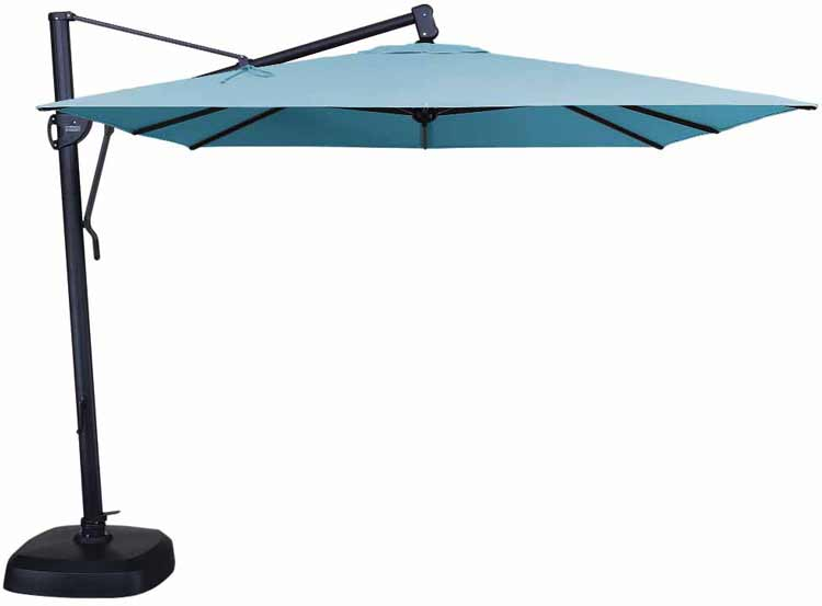 AKZSQ 10' Cantilever Square Patio Umbrella