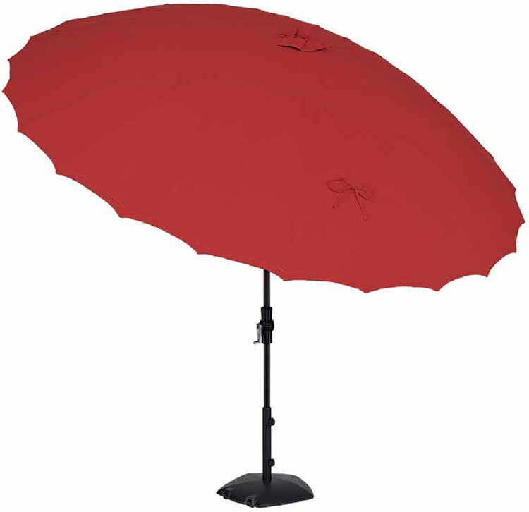 10' Shanghai Collar Tilt Round Patio Umbrella