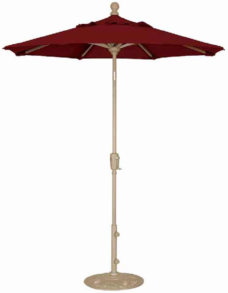 6' Push Button Tilt Octagon Patio Umbrella