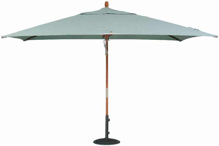 8'x11' Double Pulley Lift Rectangle Patio Umbrella