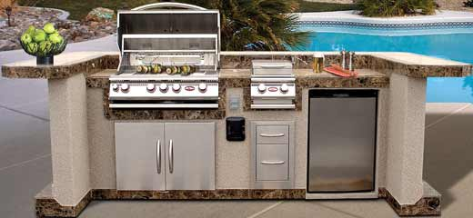 Cal Flame PV7000 Pavillion 8' Island Grill