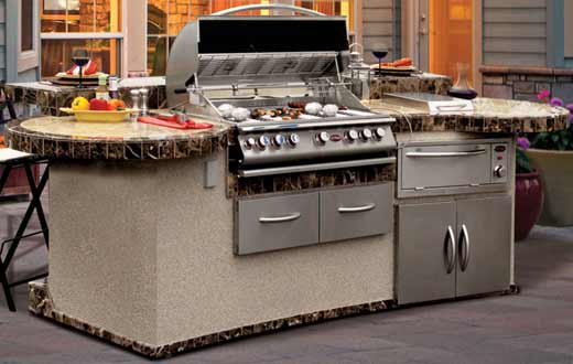 Cal Flame GPV3032 Grand Pavillion Island Grill