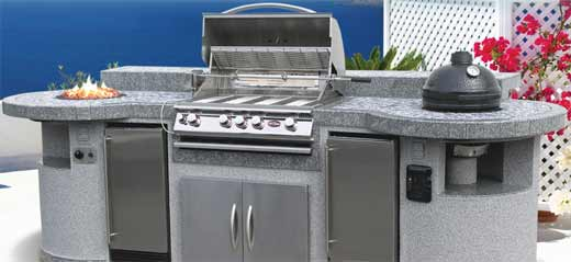 Cal Flame Master Chef Outdoor HPB Island Grill