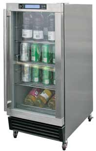 Cal Flame Stainless Steel Grill Refrigerator
