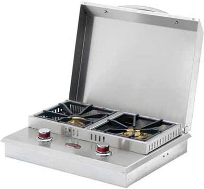 Cal Flame Side by Side Flat Grill Side Burners