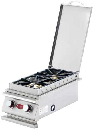 Cal Flame Deluxe Double Grill Side Burners