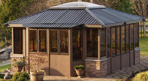 Visscher Lake Louise LS 14'X14' Fully Enclosed Gazebo