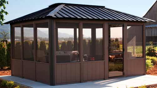 Visscher Okanagan 11'X14' Fully Enclosed Hot Tub Gazebo