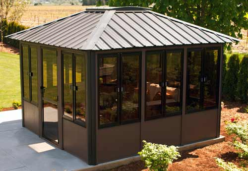 Fully enclosed hot tub gazebo by visscher vernon 11 39 x11 39 for Cal spa gazebo
