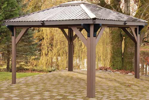 Open air hot tub gazebo by visscher othello 11 39 x11 39 for Cal spa gazebo