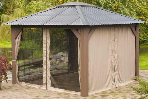 Visscher Victoria 11'X11' Open Air Hot Tub Gazebo