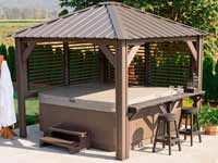 Visscher Sienna Semi Enclosed Gazebo