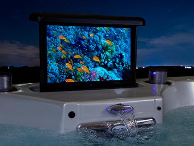 Retractable LCD TV
