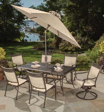 Outdoor furniture by agio manhattan pelican patio for Patio furniture retailers