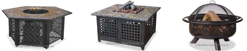 Blue Rhino Outdoor Fire Pits and Fire Tables