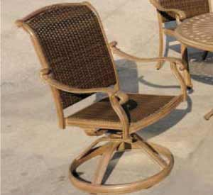 DWL Cornwall Swivel Rocker Patio Chair