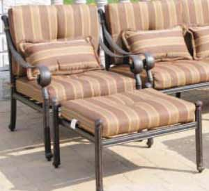 DWL Florence Patio Chair & Ottoman