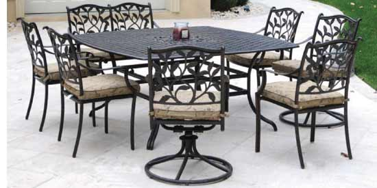 DWL Ivyland Patio 8 Person Dining Set