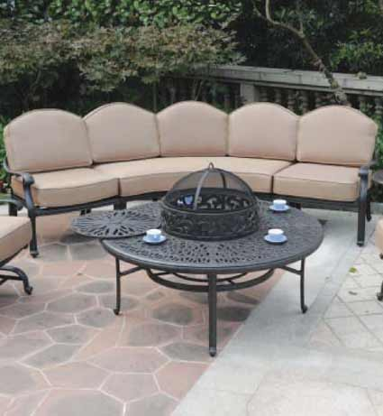 DWL Lillian Patio Fire Pit & Outdoor Couch