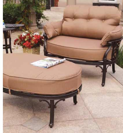 ... DWL Lillian Patio Chair U0026 Ottoman ...