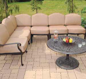 DWL Lillian Patio Sectional Couch