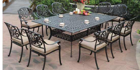 DWL Lillian Patio 10 Person Dining Set