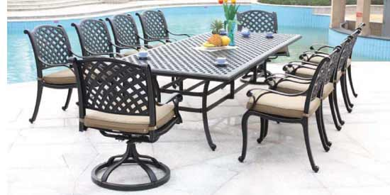 DWL New Providence Patio 10 Person Dining Set