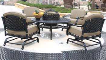 DWL New Providence Patio Fire Pit & Chairs