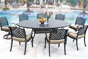 DWL New Providence Patio 8 Person Dining Set