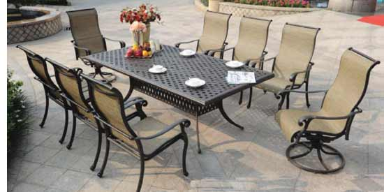 DWL Summit Patio 8 Person Dining Set
