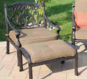 DWL Valencia Patio Chair & Ottoman