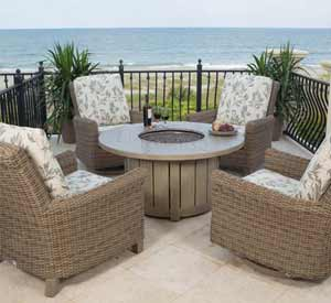 Ebel Provence Fire Pit & Chair Set