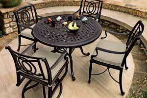 Gensun Bel Air Patio Round Dining Table