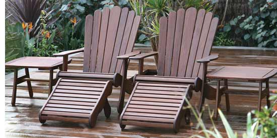 ... Jensen Leisure Adirondack Patio Chaise Chair