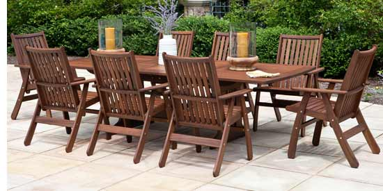 JENSEN LEISURE GOVERNOR PATIO DINING SET