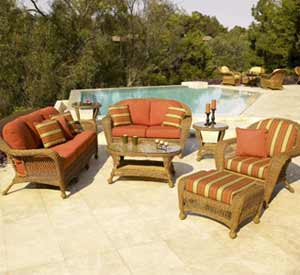 North Cape Charleston Wicker Patio Set