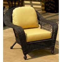 North Cape Charleston Dark Brown Wicker Chair