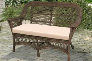 North Cape Mackinac Natural Wicker Loveseat