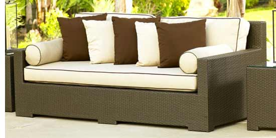 North Cape Malibu Wicker Outdoor Couch