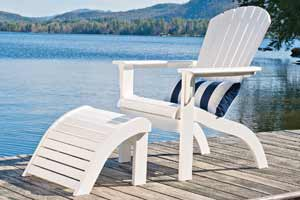 TELESCOPE ADIRONDACK CHAIR with OTTOMAN