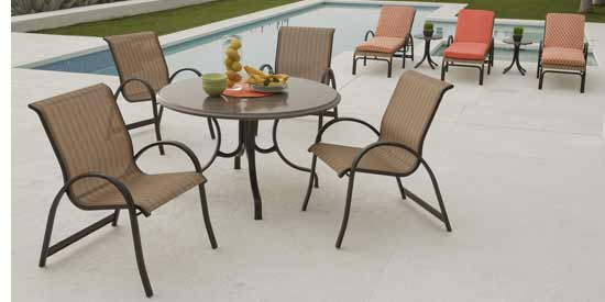 Telescope Aruba Patio Sling Dining Set
