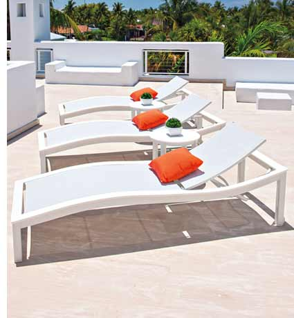TELESCOPE BAZZA SLING CHAISE LOUNGERS