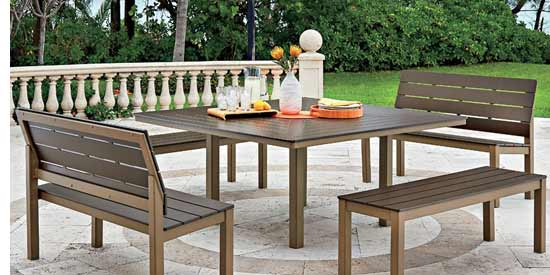 TELESCOPE CHANDLER BENCH DINING SET