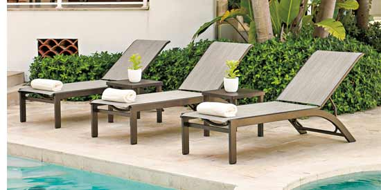 Telescope Kendall Sling Patio Loungers